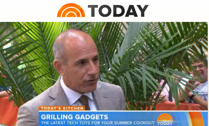 NBC-TV Today Show on iGrill mini with Mandy Walker and Matt Lauer!