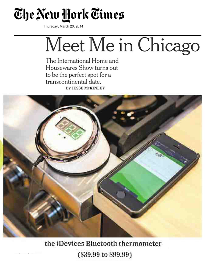 New York Times Features iDevices iGrill2 by Jesse McKinley!