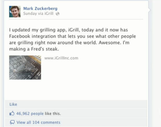 "Wall Street Journal on iGrill ""Mark Zuckerberg posted about a small app, iGrill on Sunday. Within two minutes, the site went down due to the onslaught of traffic. Christopher Allen, iDevices CEO, joins Digits to discuss how a Zuckerberg endorsement can quickly impact a company's fortunes."""