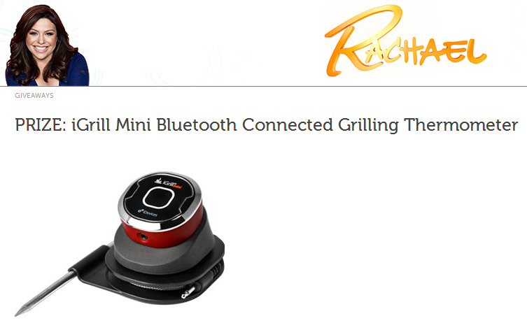 Rachael Ray TV Show Features iGrill mini! PRIZE: iGrill Mini Bluetooth Connected Grilling Thermometer