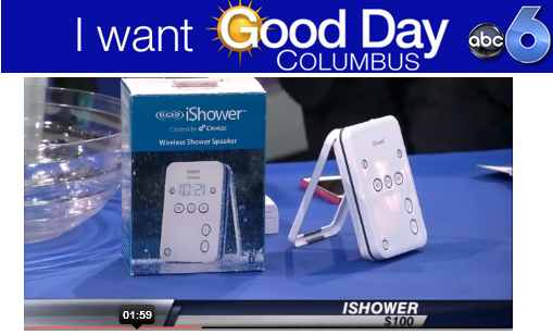 "iShower on ABC-TV and Fox-TV by QUEEN OF CHIC (Amy Scalia) ""This is great for back to school""!"