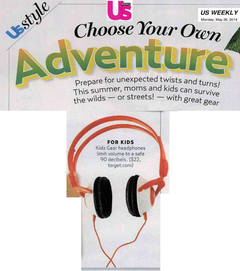 Us Weekly on Kidz Gear Headphones for Kids!