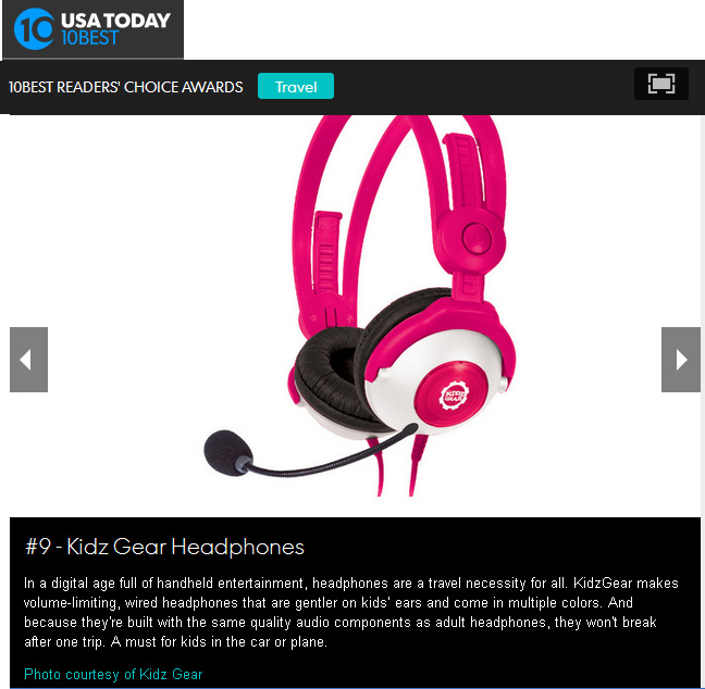 KIDZ GEAR HEADPHONES WITH BOOM MICROPHONE