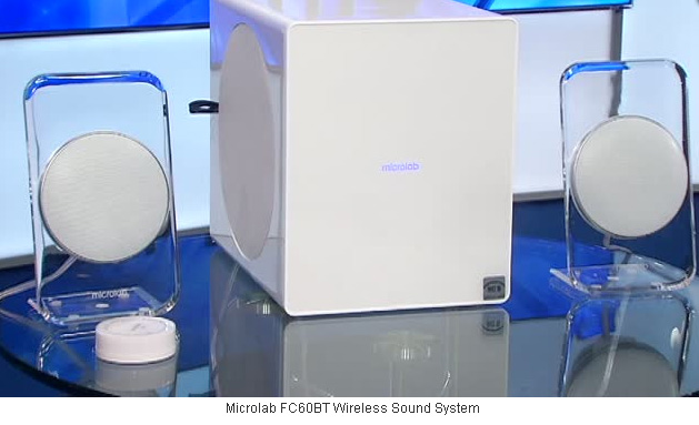 "NBC-TV ""Tech This Out"" on Microlab FC60BT by Molly O'Brien: ""You're looking at an innovative sound system""!"