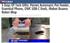 Fox-TV Denver - 5 Days of Tech Gifts with OWC USB-C Dock by Kirk Yuhnke