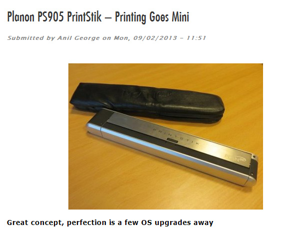 "T3 Middle East Magazine on PlanOn PrintStik ""This could well be in every techie�s must-have list""!"