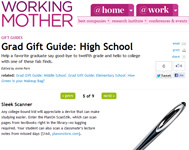 "Working Mother Magazine Features ScanStik in ""Grad Gift Guide"" ""Any college-bound kid will appreciate a device that can make studying easier"""
