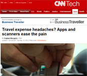 "CNN on SlimScan Business Card Sized Scanner: ""Travel expense headaches? Apps and scanners ease the pain"" by Eoghan Macguire! ""It's a device that looks 'impressive' and is easy to carry around,"" - Duncan Bell (operations editor of tech magazine T3)"