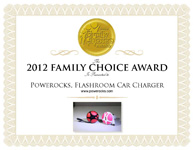 Powerocks Magic Cube & Flashroom Car Charger Mobile Device Power Banks Win 2012 Family Choice Award!