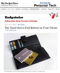 "NY Times Features Powerocks Tarot Portable Power Bank ""The Tarot Sees a Full Battery in Your Future"" by Roy Furchgott!"