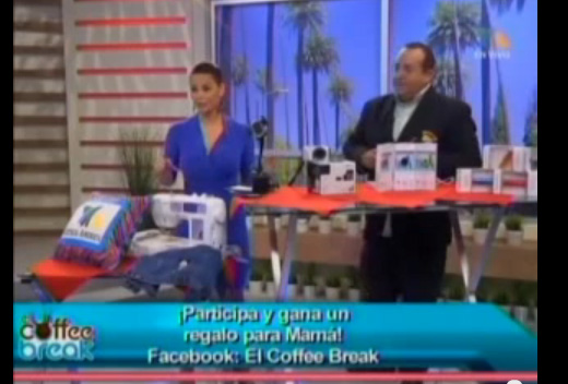 "Azteca America Los Angeles TV Show on Powerocks - Mother's Day Gifts by Jose Vargas Ulloa! ""Este feu el que a mi de verdad mas me gusto!"" (Truthfully, this was the one for me that I liked the best!)"