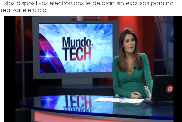 "Fox-TV Mundo Fox 8 Miami ""Mundo Tech"" on SensoGlove ""These electronic devices give you no excuses to not exercise! – SensoGlove is the first and only golf glove that has internal sensors that constantly read the pressure of the grip on the golf club."" - Raul Garcia, Fox TV"