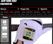 NY Post on Black Friday Gifts Featuring SensoGlove Digital Golf Glove by Joseph Gallivan!