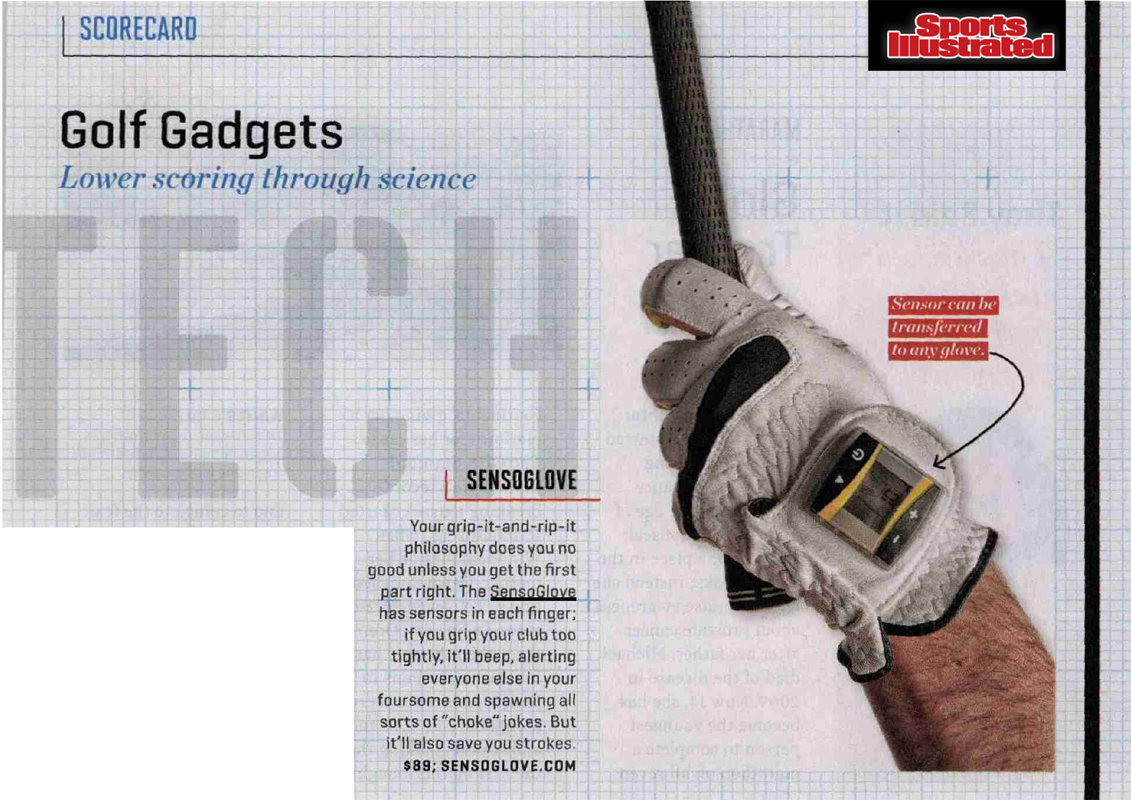 "Sports Illustrated Features SensoGlove "" Golf Gadgets - Lower Scoring through Science!"""