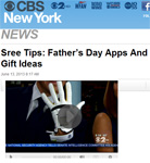 CBS-TV News Features SensoGlove with Sree Sreenivasan for Father�s Day Gift Ideas!