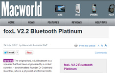 "Macworld Australia Awards foxL PLATINUM ""5 Mice out of 5"" ""Editor's Pick"" Award by Dave Bullard: ""Enter the pimped-up Platinum edition...It now gets the full five mice – and an Editor's Pick to boot."""