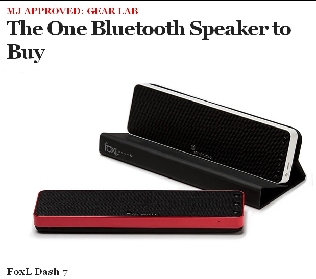 "Men's Journal Selects foxL DASH7 as ""The One Bluetooth Speaker to Buy"" - MJ Approved"