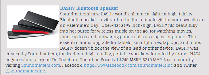 "Queen Latifah Show on Valentine's Gifts Giveaways with Soundmatters DASH7: ""Gift Yourself This Valentine's Day!  Enter for your chance to win the perfect Valentine's Day prize package"""