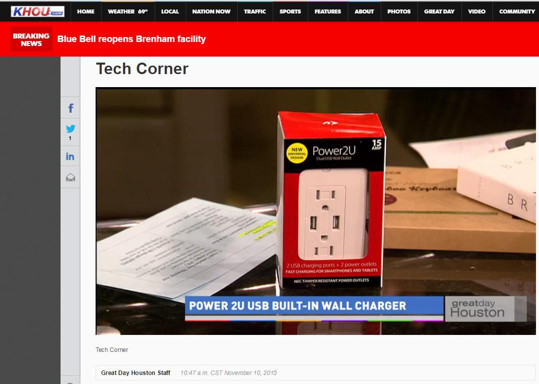 "CBS-TV ""Great Day Houston"" Tech Corner on Thomas PR Clients' NewerTech & Impecca by Doug Delony!"