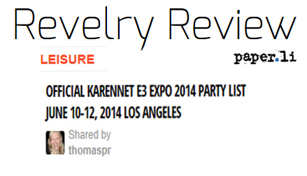 Revelry Review on Official KarenNet E3 Expo 2014 Party List