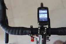 Velocomp PowerPod on Bike Paired to Garmin Bike Computer