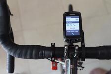 Velocomp PowerPod on Bike Paired to Garmin Bike Computer