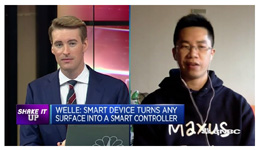 "CNBC The Rundown Welle interview with CEO Mark Zeng ""This smart device turns any surface into an interface"" with Dan Murphy, CNBC The Rundown"