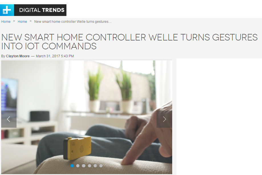 Digital Trends on Welle Sonar Technology Based Smart Home Controller for IoT Devices by Clayton Moore!